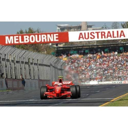 Kimi Raikkonen / Ferrari wins the Australian Gran Prix at Albert Park Melbourne | TotalPoster