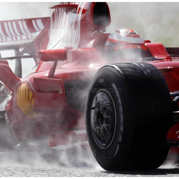 Kimi Raikkonen / Ferrari f1 in action during training | TotalPoster