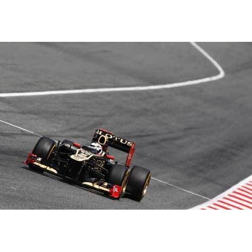 Kimi Raikkonen / Lotus drives on his way to finishing third during the Spanish Formula One Grand Prix at the Circuit de Catalunya | TotalPoster