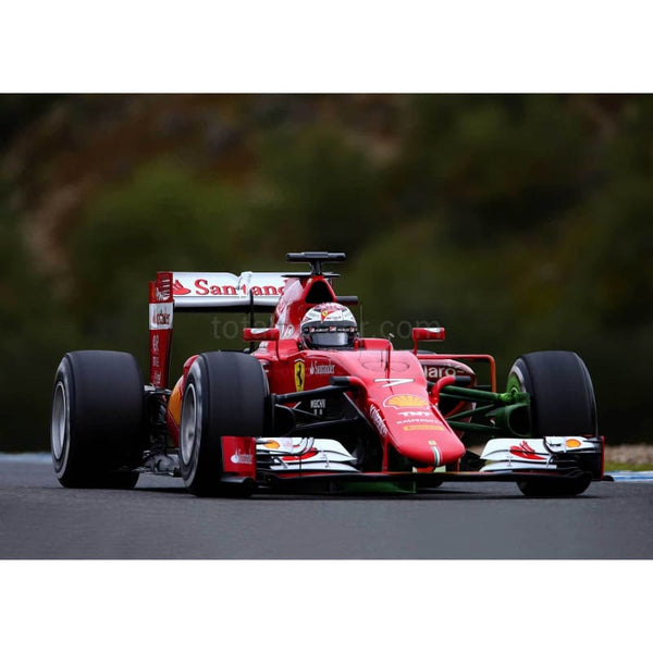 Kimi Raikkonen of Finland and Ferrari drives during day three of Formula One Winter Testing at Circuito de Jerez in Jerez de la Frontera, Spain | TotalPoster