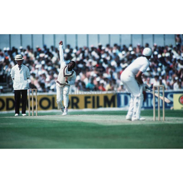 Malcolm Marshall of the West Indies in action during the World Cup tournament at the Oval | TotalPoster