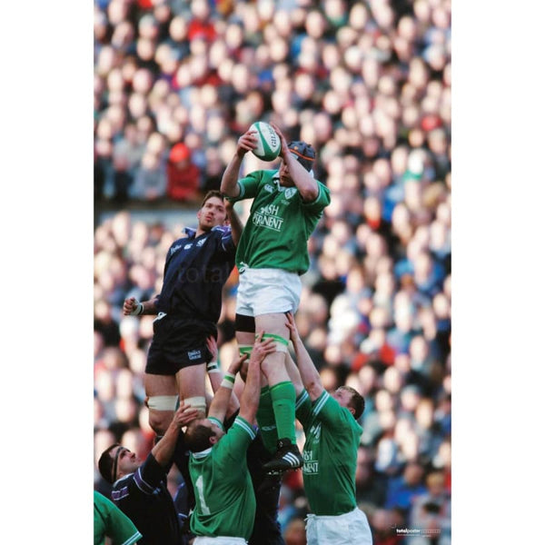 Malcolm O'Kelly | Ireland Six Nations rugby posters TotalPoster