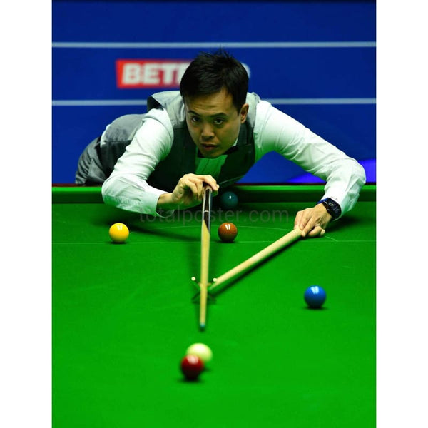Marco Fu in Action | Snooker Posters | TotalPoster