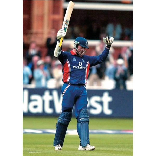 Marcus Trescothick celebrates making his century during third Natwest one day international match between England and Pakistan at Lords Cricket Ground | TotalPoster