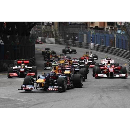 Mark Webber / Red Bull Racing leads at the start of the Monaco Formula One Grand Prix in Monte Carlo | TotalPoster