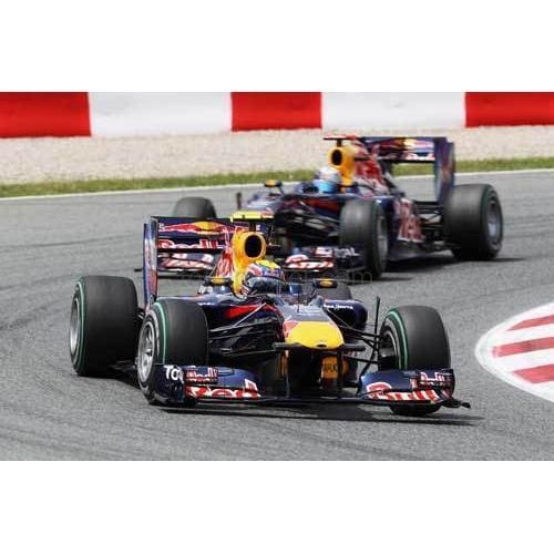 Mark Webber /Red Bull Racing leads Sebastian Vettel during the Spanish Formula One Grand Prix at the Circuit de Catalunya | TotalPoster