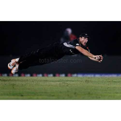 Martin Guptill dives to field the ball during the 2011 ICC World Cup Quarter-Final match between New Zealand and South Africa at Shere-e-Bangla National Stadium | TotalPoster