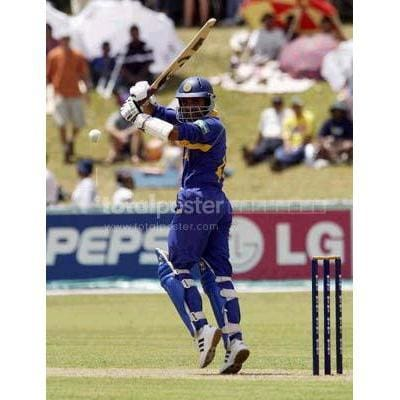 Marvin Atapattu of Sri Lanka hits out during the ICC Cricket World Cup match between Sri Lanka and Bangladesh at the Pietermaritzburg Oval | TotalPoster