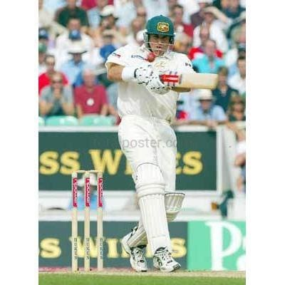 Matthew Hayden in action during the 5th npower test at the Oval between Australia and England | TotalPoster