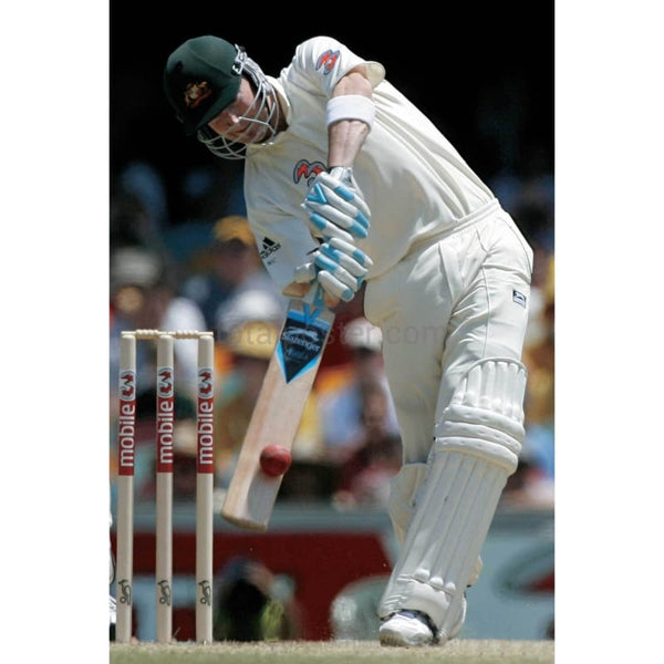 Michael Clarke hits a boundary during the 1st Ashes Cricket match between Australia and England at the Gabba | TotalPoster