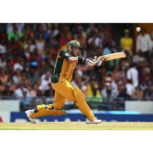 Mike Hussey hits out during the final of the ICC World Twenty20 between Australia and England | TotalPoster