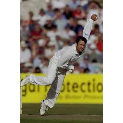 Nathan Astle / New Zealand in action during the 3rd Test against England at Old Trafford | TotalPoster
