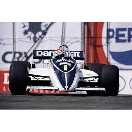 Nelson Piquet / Parmalat Brabham Ford BT49D during the United States Grand Prix West at Long Beach California | TotalPoster