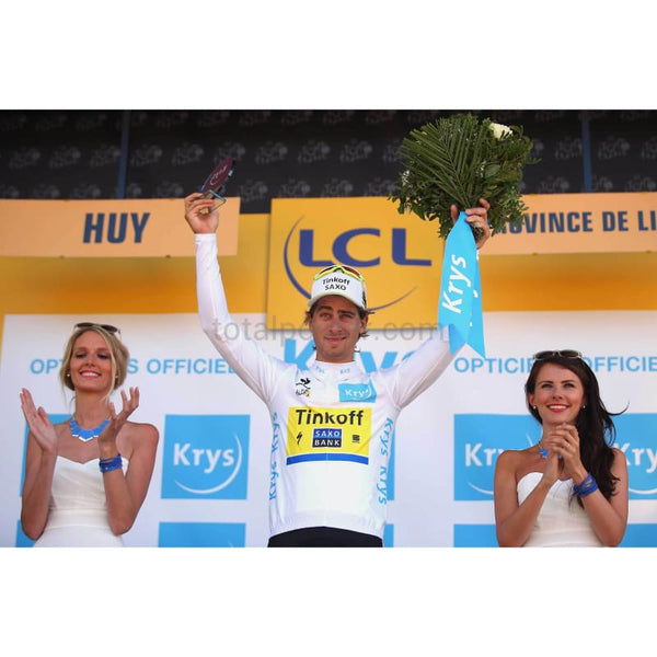 Peter Sagan celebrates white Jersey | Tour de France Posters TotalPoster