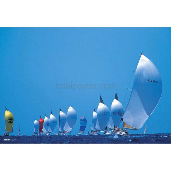Racing Yachts Total Poster