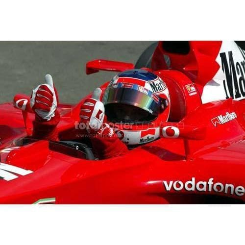 Rubens Barrichello stormed to pole in qualifying for the Hungarian F1 Grand Prix at the Hungaroring | TotalPoster