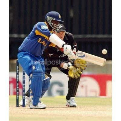 Sanath Jayasuriya in action during the Cricket World Cup Pool B match between Sri Lanka and New Zealand held at Goodyear Park in Bloemfontein | TotalPoster