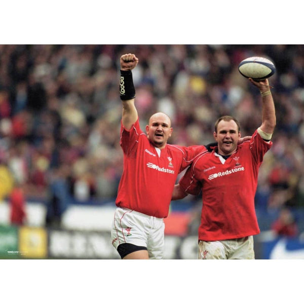 Scott  & Craig Quinnell | Wales Six Nations rugby posters TotalPoster