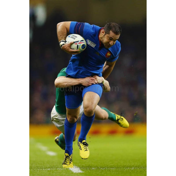 Scott Spedding is tackled during the 2015 Rugby World Cup Pool D match between France and Ireland at Millennium Stadium | TotalPoster