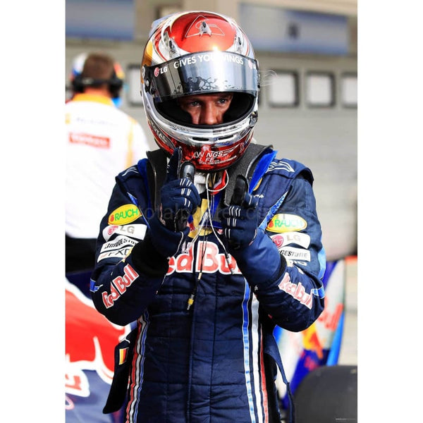 Sebastian Vettel / Red Bull Racing celebrates in parc ferme after qualifying on pole position for the Hungarian Formula One Grand Prix at the Hungaroring | TotalPoster