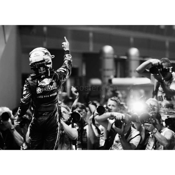 Sebastian Vettel / Red Bull Racing celebrates in parc ferme after winning the Singapore Formula One Grand Prix at the Marina Bay Street Circuit | TotalPoster