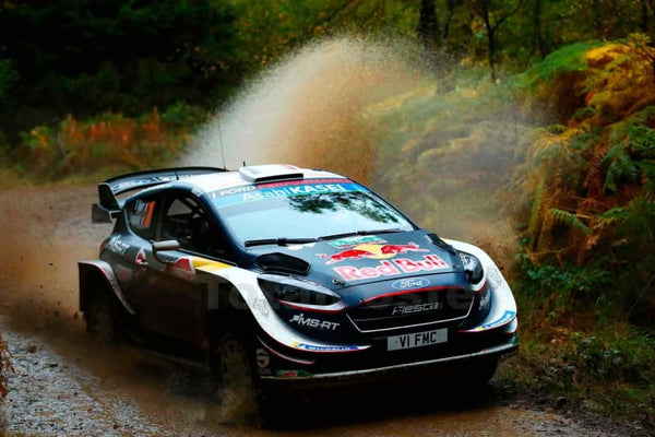 Sebastien Ogier During The World Rally Gb - Poster