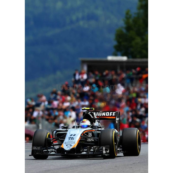 Sergio Perez / Force India drives during the Formula One Grand Prix of Austria at Red Bull Ring in Spielberg, Austria | TotalPoster