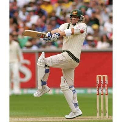 Shane Warne in action durind the 3rd Ashes Cricket test Match | TotalPoster