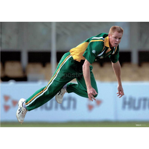 Shaun Pollock in action during the South Africa v Bangladesh ICC Champions Trophy match at Edgbaston | TotalPoster