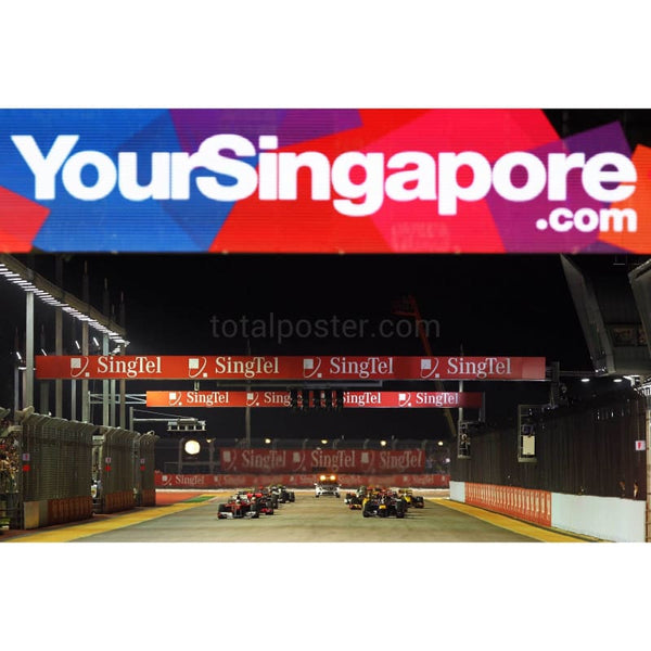 Start of the Singapore Formula One Grand Prix at the Marina Bay Street Circuit | TotalPoster
