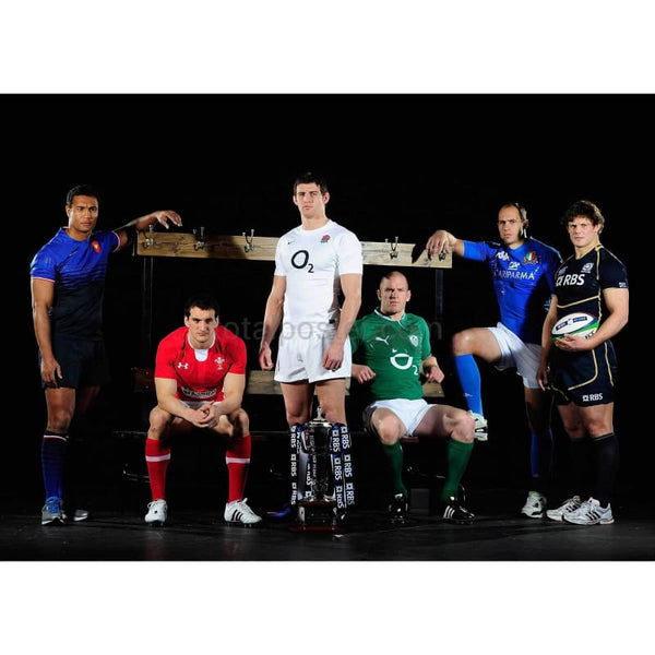 Six Nations Captains at the Championship launch posters TotalPoster