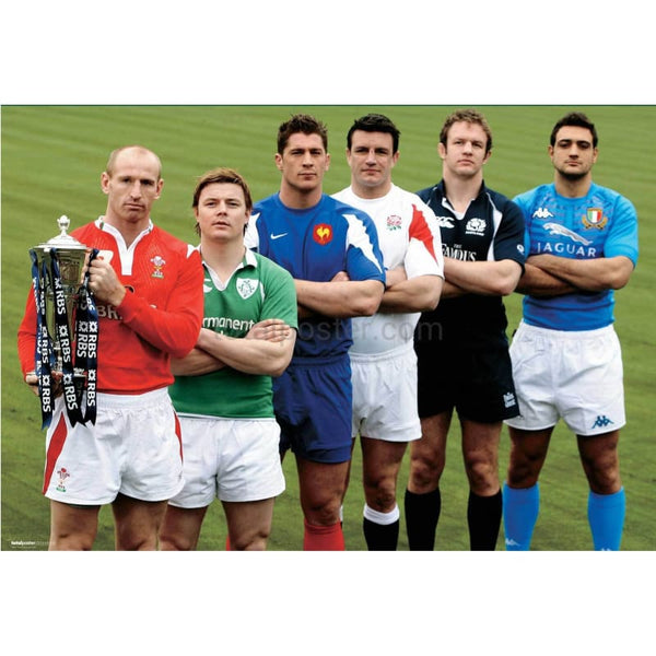 Six Nations Team Captains | rugby posters TotalPoster