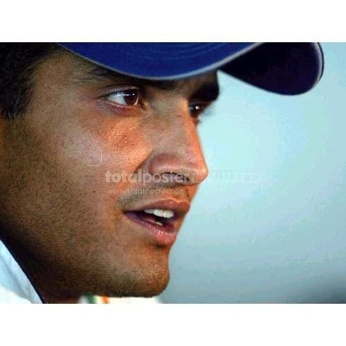 Indian captain Sourav Ganguly during an Indian practice session at the Kingsmead Cricket Ground in Durban | TotalPoster