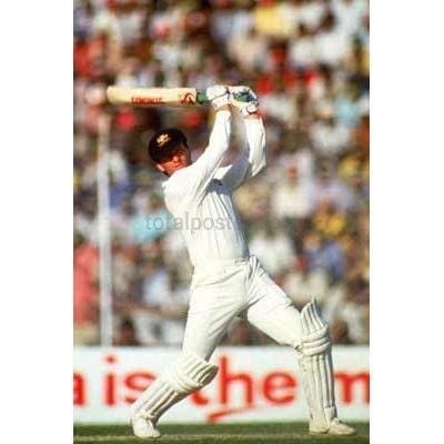 Steve Waugh of Australia in action during the 1987 Cricket World Cup held at Feroz Shah Kotla in Delhi | TotalPoster