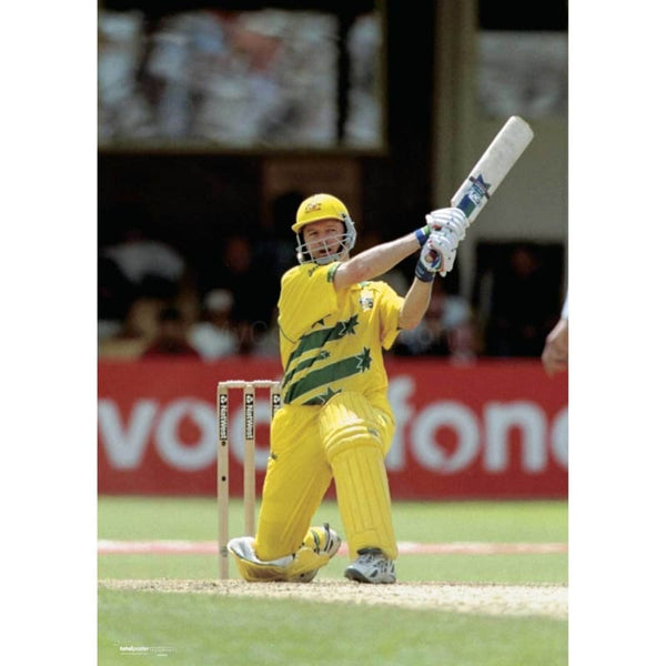 Steve Waugh / Australia batting during the World Cup semi-final against South Africa at Edgbaston | TotalPoster