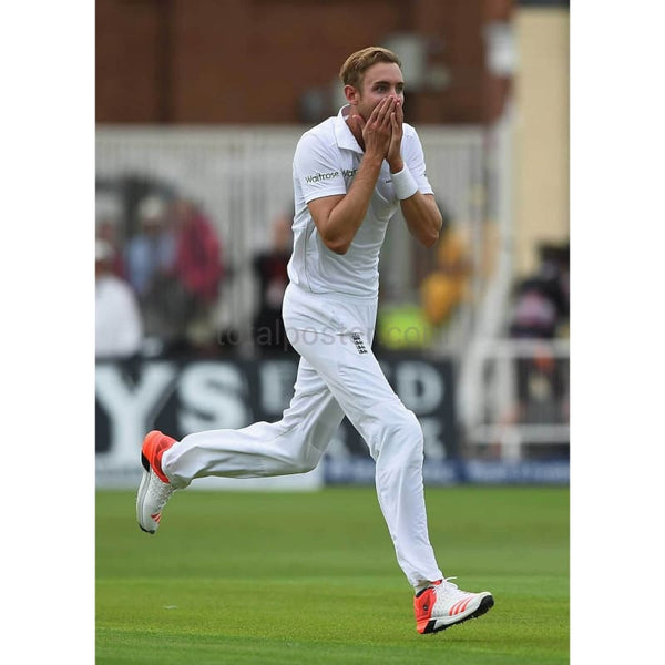 Stuart Broad looks on in disbelief at Ben Stokes after his amazing catch to dismiss Adam Voges during day one of the 4th Investec Ashes Test match between England and Australia at Trent Bridge in Nottingham | TotalPoster