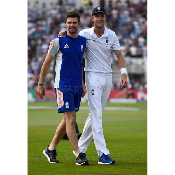 Stuart Broad and Jimmy Anderson clebrate winning the Ashes on a lap of honour after the 4th Investec Ashes Test match between England and Australia at Trent Bridge | TotalPoster
