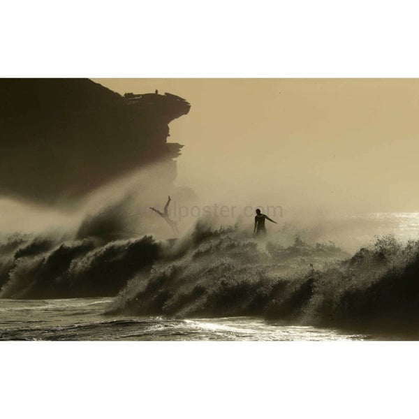 Surfers At Bronte Beach - Poster