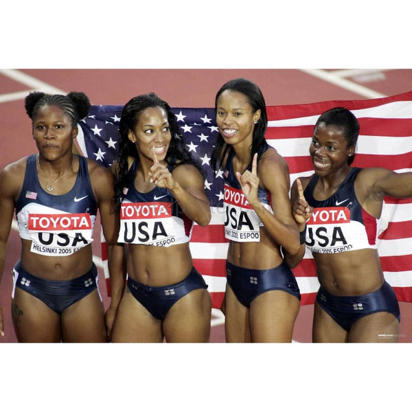 USA Womens Relay Team | Athletics Posters | TotalPoster
