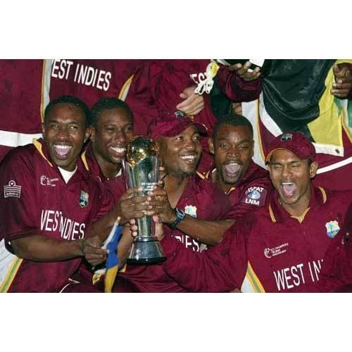 The West Indies team celebrate winning the ICC Champions Trophy 2004 | TotalPoster