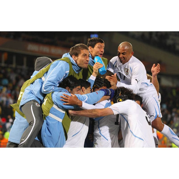 Uruguay Players Celebrate | Football Poster | TotalPoster