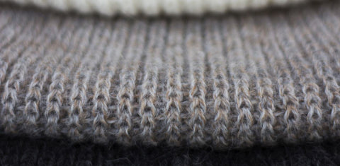 British alpaca yarn produced for the Ally Bee knitwear collection is soft, sumptuous and sustainably sourced.
