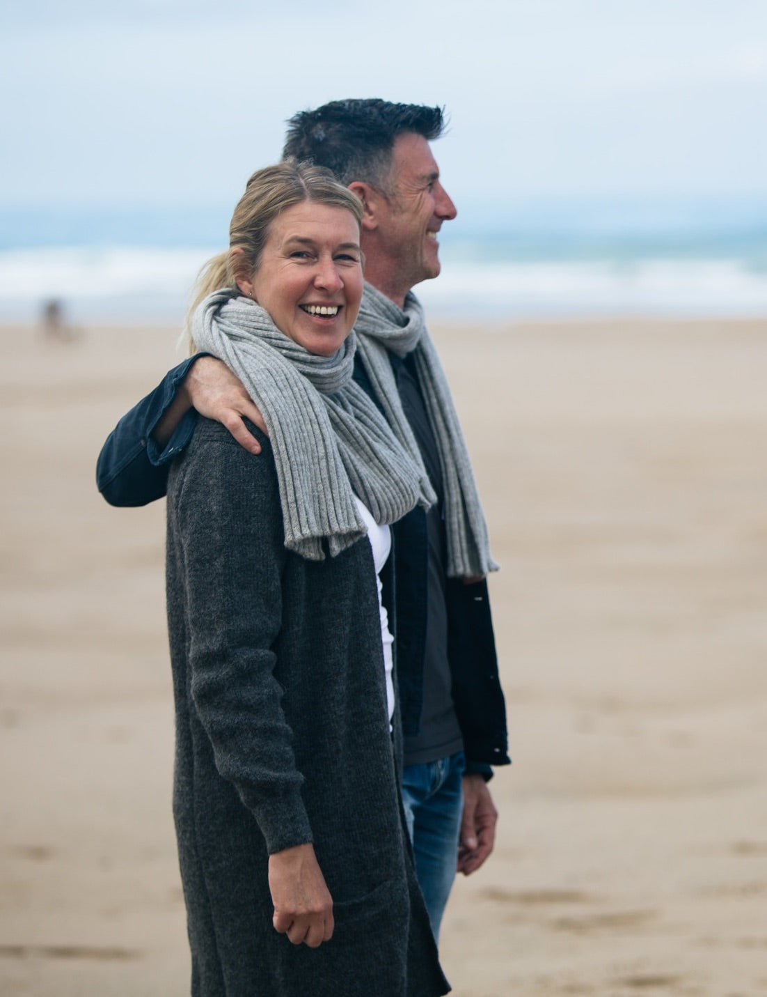 The Ally Bee Wide Rib Alpaca scarf is made from sustainable low impact British alpaca yarn and is knitted in Hawick, Scotland, available now at ally-bee.com