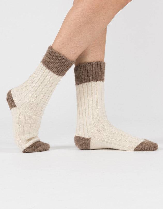 Alpaca Bed Socks - alpaca & wool lounge socks, various colours