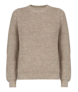 Alpaca Jumper in natural Pebble shade by Ally Bee Knitwear