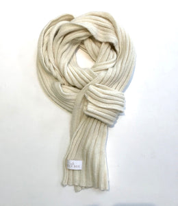 Ally Bee Luxury Alpaca Cream Scarf