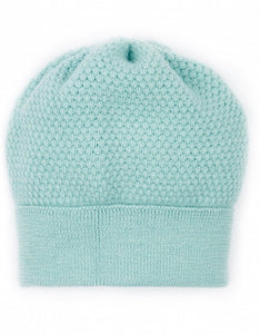 Beanie Hat - Wool, Blue Mint 'Bramble Bee'