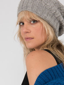 Pure alpaca lace stitch beanie hat from Ally Bee