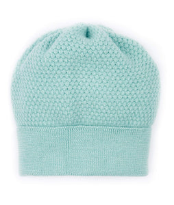Turquoise Blue Mint wool beanie hat from Ally Bee Knitwear