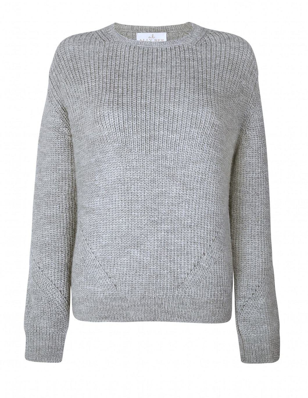 Ally Bee Alpaca & Wool Jumper in soft Grey by Ally Bee